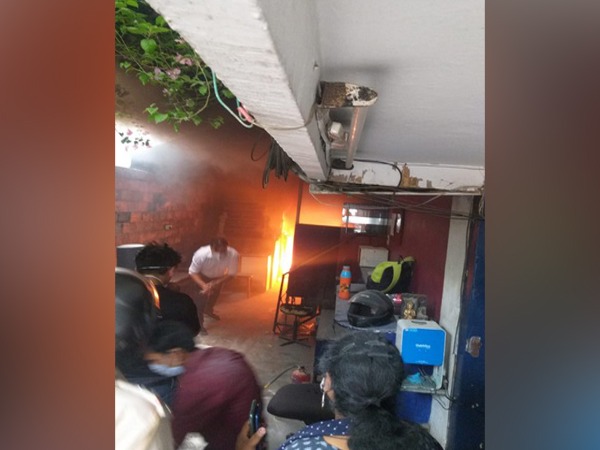 Fire broke out at a testing lab in Greater Kailash on Monday.