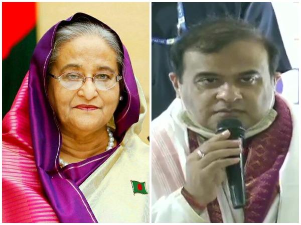 Bangladesh Prime Minister Sheikh Hasina and new Chief Minister of Assam Himanta Biswa Sarma (Twitter)
