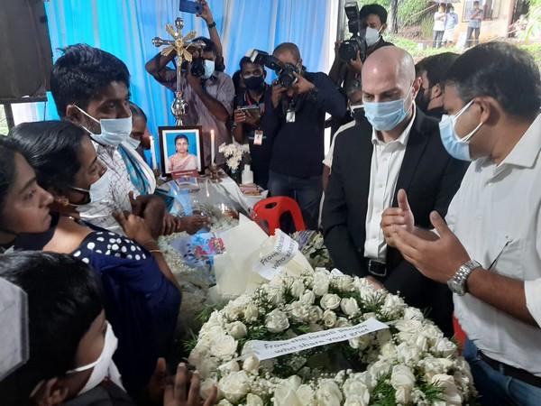 Jonathan Zadka, consul general of Israel to South India visited Kerala woman's home at Keerithodu (Photo/ANI)