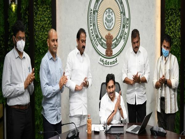 Andhra CM inaugurates 500 bedded COVID hospital virtually (Photo/ANI)