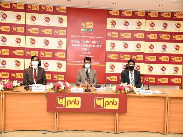 Visuals from PNB's press conference in Delhi (Photo/ANI)
