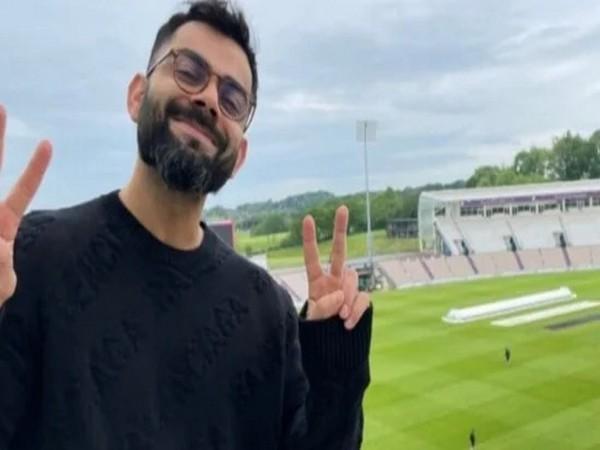 Virat Kohli from his hotel room in Southampton. (Screengrab/Virat Kohli's Instagram)