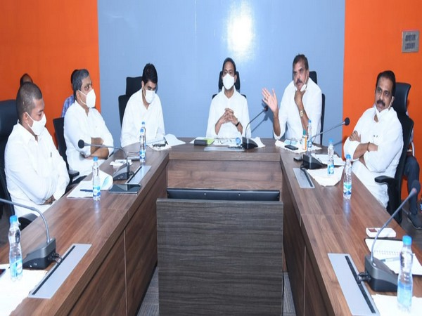 A photo from today's meeting in Amaravati