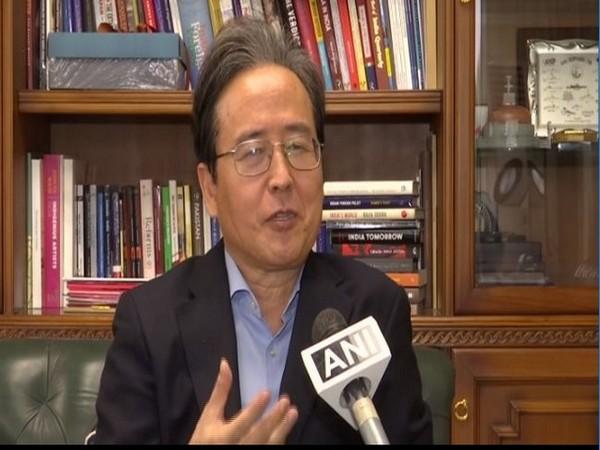 South Korean envoy to India Shin Bong-Kil speaking to ANI in New Delhi on Wednesday.