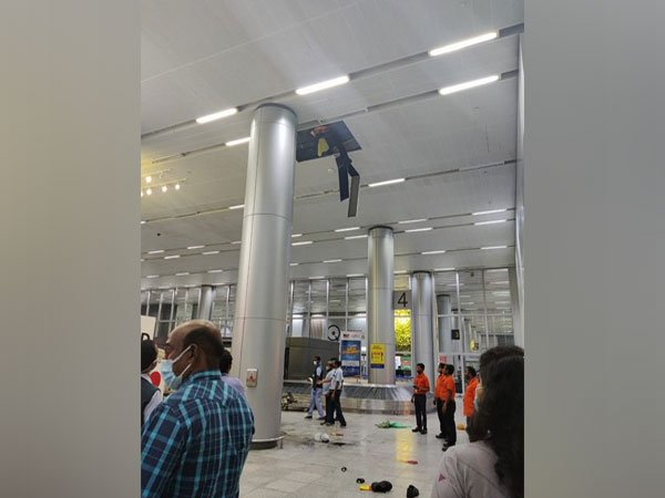 Man cleaning drainage pipeline at Hyderabad airport dies after inhaling fumes (Photo/ANI)