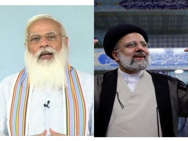 Prime Minister Narendra Modi and Iran's President-elect Ebrahim Raisi