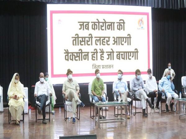 A visual from the meeting regarding the Vaccination Maha Abhiyan (ANI).
