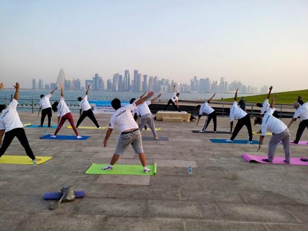 Qatar celebrates 7th International Day of Yoga.