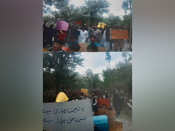 Protest erupts in Gilgit Baltistan against PAF for illegal land grab