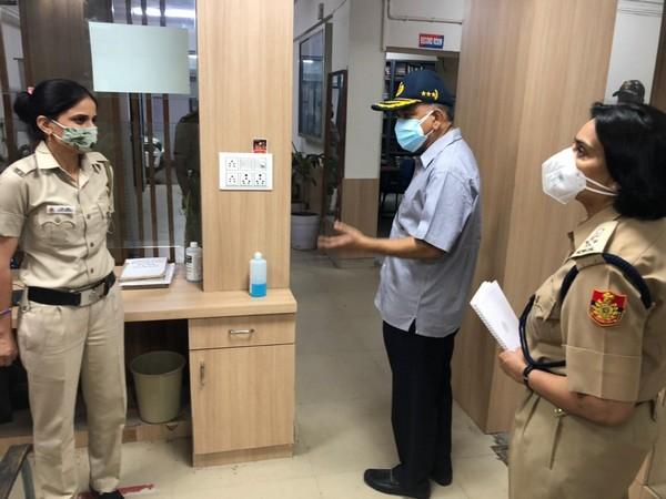 Delhi CP Balaji Srivastava visits police stations