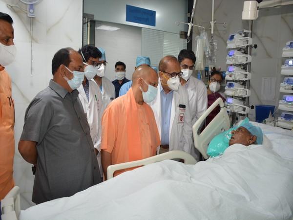 UP CM during his visit to SGPGI