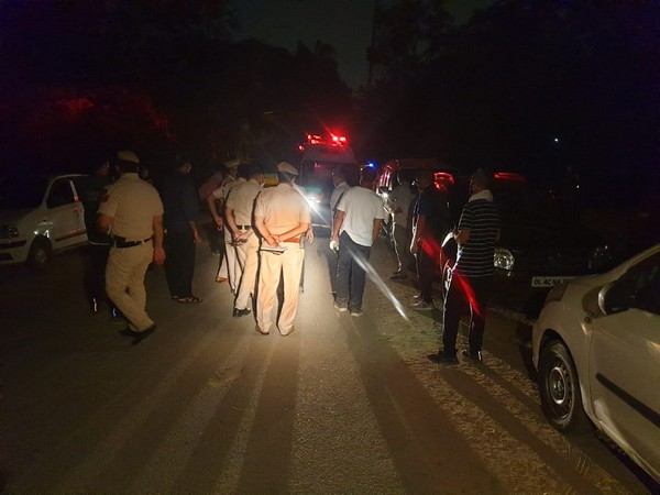 Delhi Police's Special Cell team at the location of the shoot out (Photo/ANI)