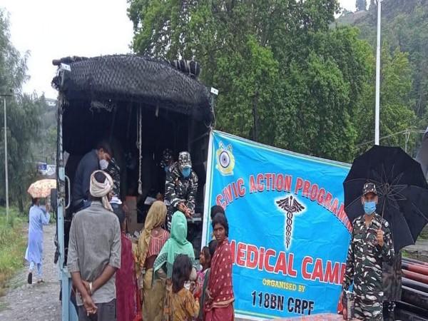 Medical camp organised by CRPF in Jammu and Kashmir's Ganderbal district