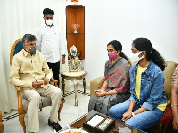 Devineni Anupama submitting letter for immediate protection to Devineni Umamaheswara Rao