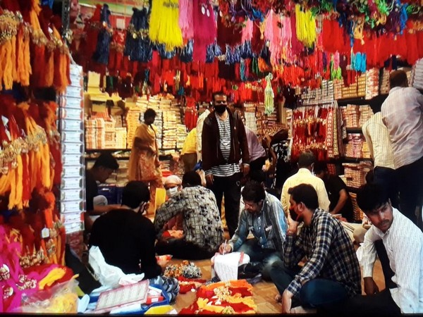 A market in Indore ahead of the Raksha Bandhan festival