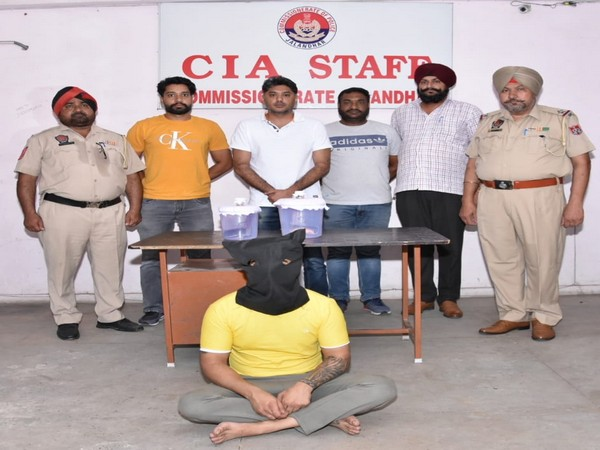 Commissionerate Police of Jalandhar apprehended the accused (Photo/ANI)