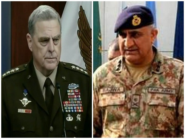 General Mark Milley, chairman of the Joint Chiefs of Staff and Army Chief of Staff of Pakistan General Qamar Javed Bajwa