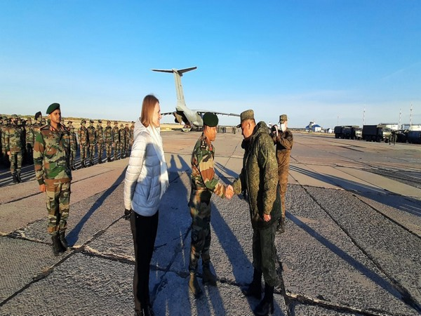Indian Army contingent at SCO's 'Peaceful Mission' military exercise.