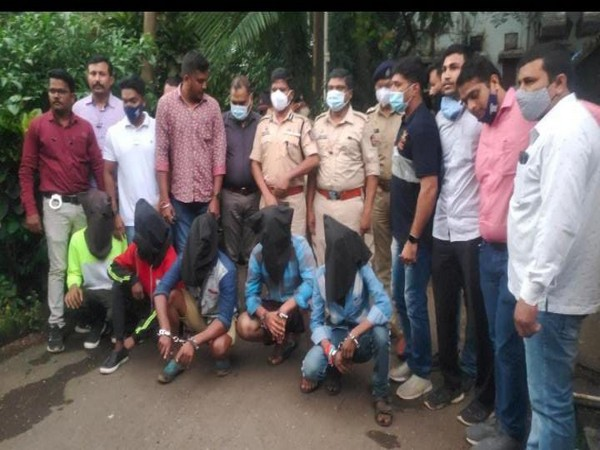 Police with the five accused (Photo/ANI)