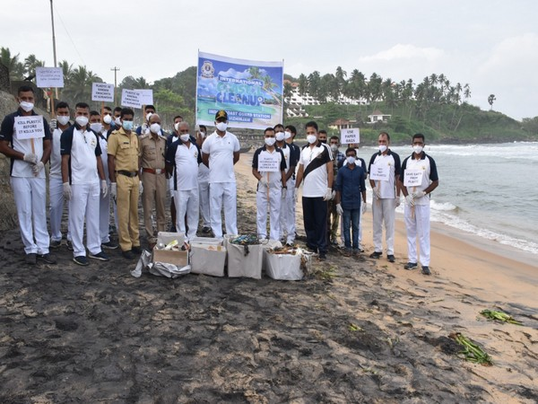The Indian Coast Guard conducted the International Coastal Cleanup day