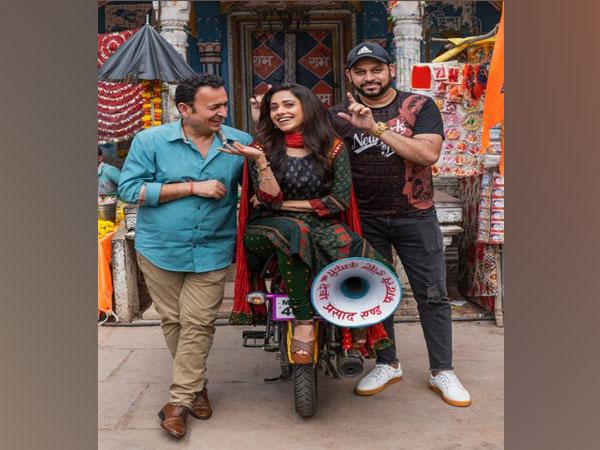 Nushrratt Bharuccha on the sets of 'Janhit Mein Jaari'