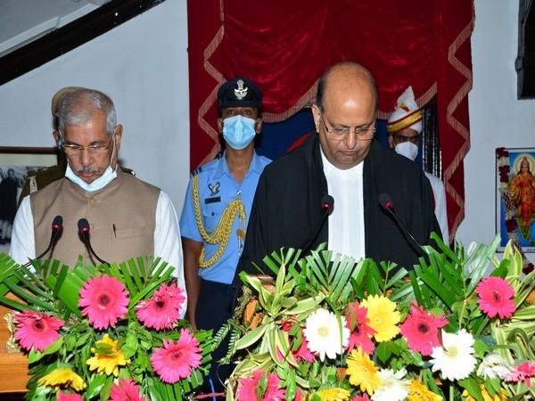 Justice Mohammad Rafiq at swearing in ceremony.