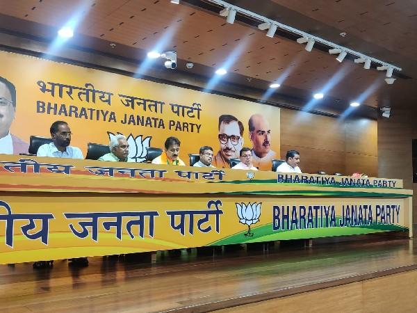 Visuals from press conference of Bharatiya Janata Party in New Delhi. (Photo/india odds)