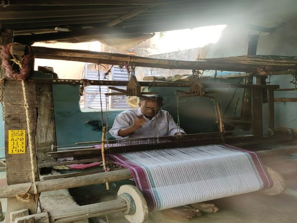 """It takes 2 months to weave 100 'gamchas' to earn Rs 1600,""said a weaver."