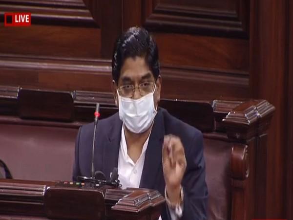 DMK MP P Wilson speaking in Rajya Sabha on Tuesday.