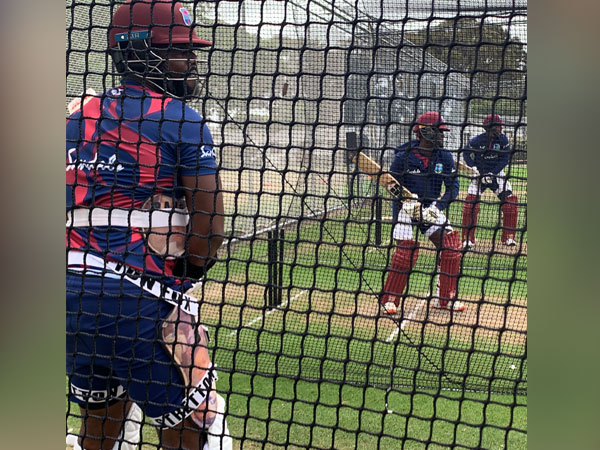 Windies players training at facility in Christchurch. (Photo/ CWI Twitter)