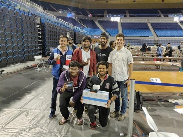 Winning LAHacks, at UCLA, California, USA