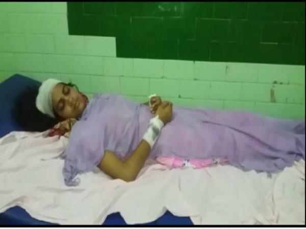 The injured woman named Sonam against whom the violence was committed (Photo/ANI)