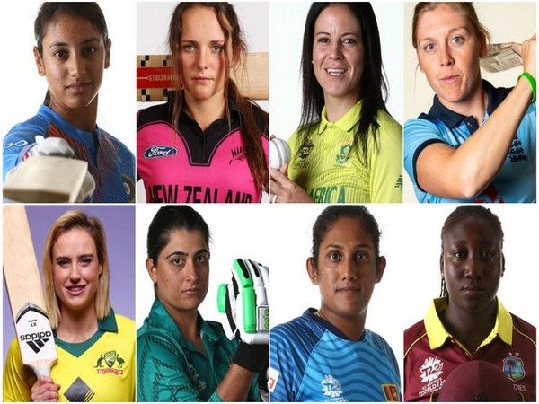 T20 captains of the eight teams who will compete in the Birmingham 2022 Commonwealth Games (Photo/ICC Twitter)