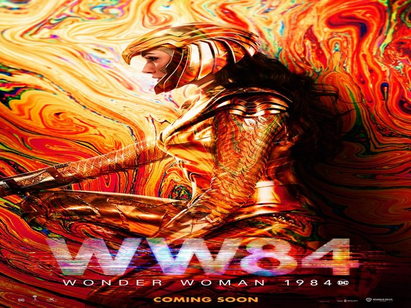 Poster of the film ' Wonder Woman 1984' featuring actor Gal Gadot (Image source: Twitter)