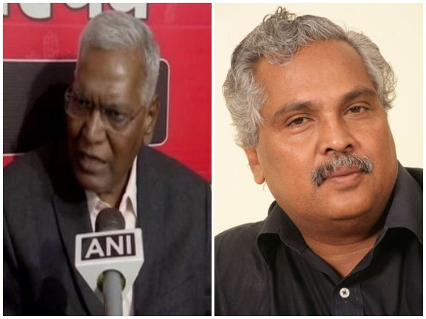Rajya Sabha MPs D Raja and Binoy Viswam (left to right)