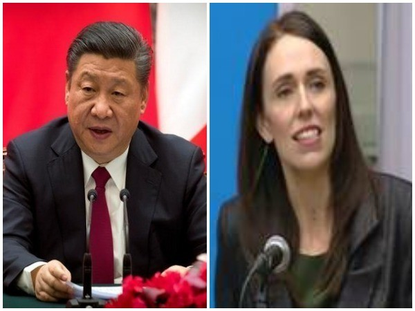 Chinese President Xi Jinping and New Zealand Prime Minister Jacinda Ardern