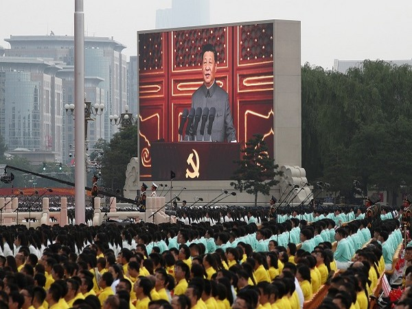 Chinese President Xi Jinping during the 100th founding anniversary of the Communist Party of China. (Credit: Reuters)