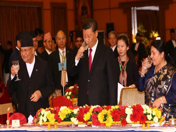 Chinese President Xi Jinping in Kathmandu.