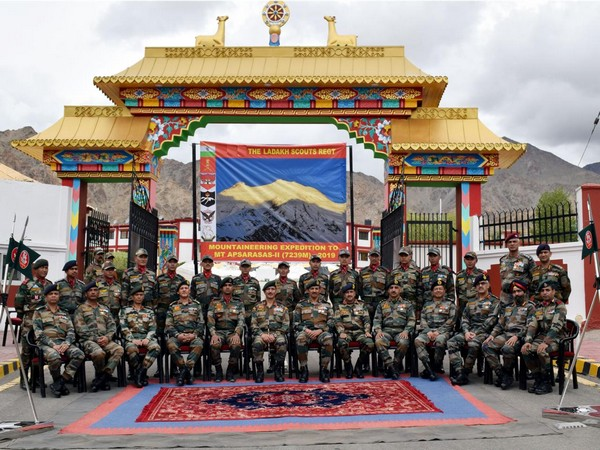 Lt Gen YK Joshi on Wednesday flagged off a mountaineering expedition to Mount APSARASAS-II in the Ladakh region.