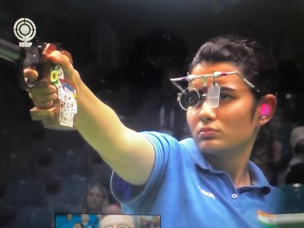 India shooter Yashaswini Deswal (Photo/ NRAI Twitter)