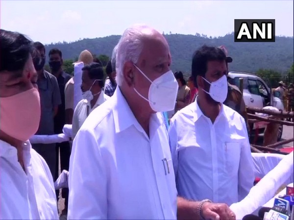 Karnataka Chief Minister BS Yediyurappa speaking to reporters on Monday. Photo/ANI
