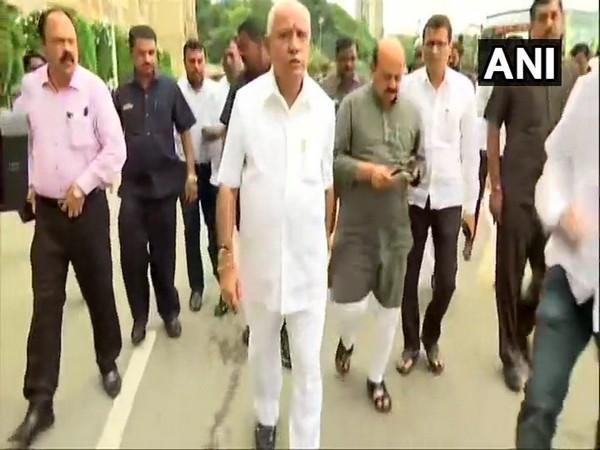 BJP leaders arrive at Vidhana Soudha