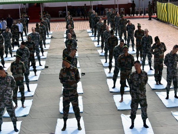 Joint Yoga session of Indian and Chinese Army on International Yoga Day