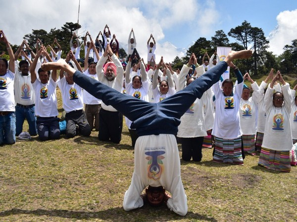 A yoga day event was organised in Nepal to celebrate 5th International Yoga Day (Picture Source: Ambassador Manjeev Singh Puri's Twitter handle)