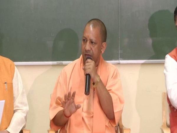Chief Minister Yogi Adityanath speaking to media persons on Sunday in Lucknow. Photo/ANI