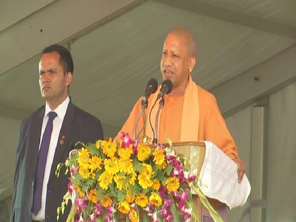 Uttar Pradesh Chief Minister Yogi Adityanath speaking at Chitrakoot on Saturday. (Photo/ANI)