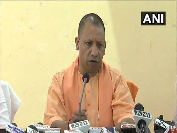 Uttar Pradesh Chief Minister Yogi Adityanath addressing a press conference in Sonbhadra on Sunday.