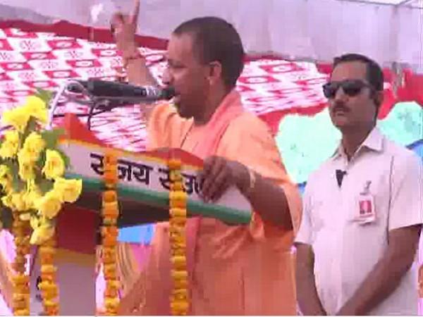 UP CM Yogi Adityanath addressing a public rally in Gorakhpur