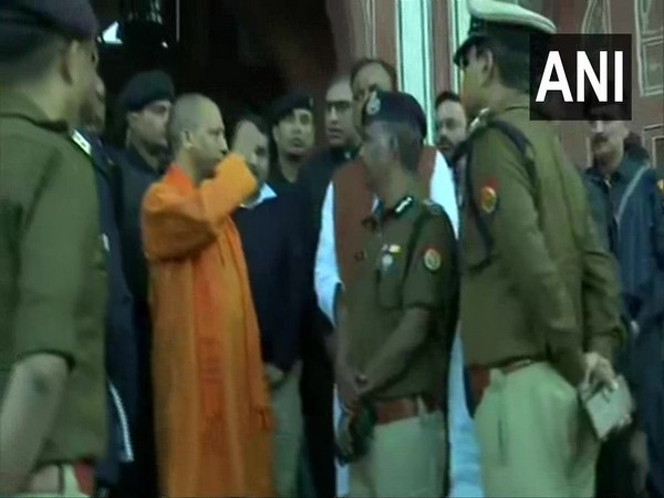 Uttar Pradesh Chief Minister Yogi Adityanath reviewing the arrangements in Agra on Tuesday. Photo/ANI