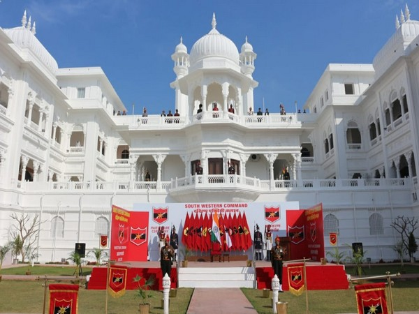 Visual of preparations of South Western Command investiture ceremony (Photo/ANI)